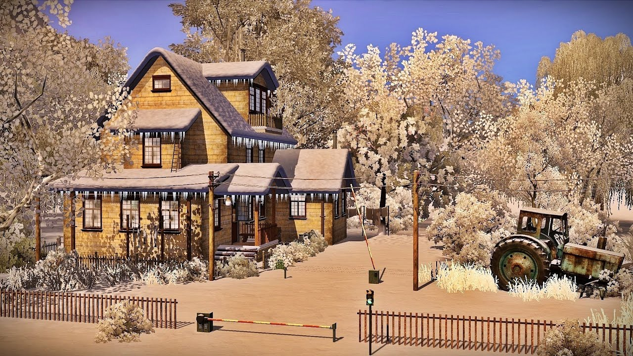 The sims 3 old railway junction house 720p youtube for Classic house sims 3