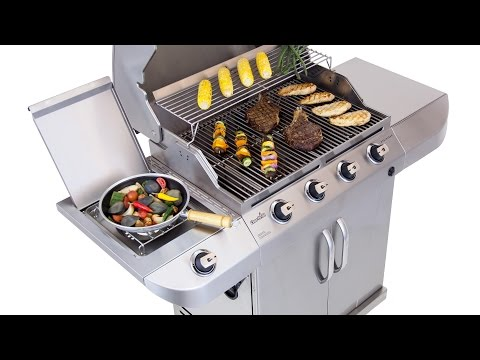 Char-Broil Stainless 4-Burner Gas Grill - Lowe's Exclusive