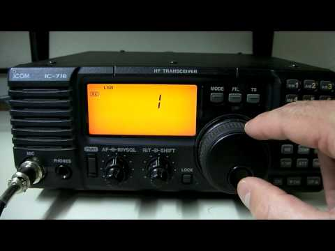 Icom IC-718 HF Radio Overview & CB Mod Info