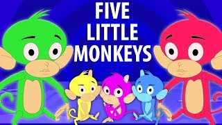 năm con khỉ nhỏ   trẻ em bài hát   5 Little Monkeys   Kids Channel Vietnam   nhac thieu nhi hay nhất