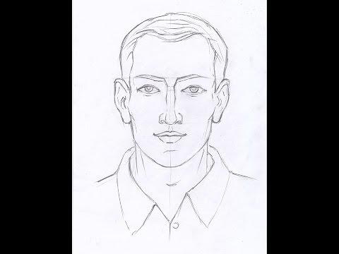 Видео как нарисовать мужчину карандашом поэтапно