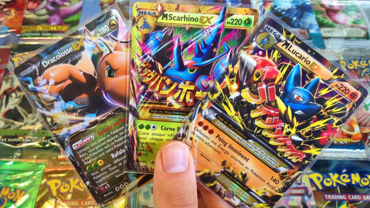 Ouverture d 39 un display de 36 boosters pok mon xy 3 poing furieux 3 une carte pok mon en or - Tout les carte pokemon ex du monde ...