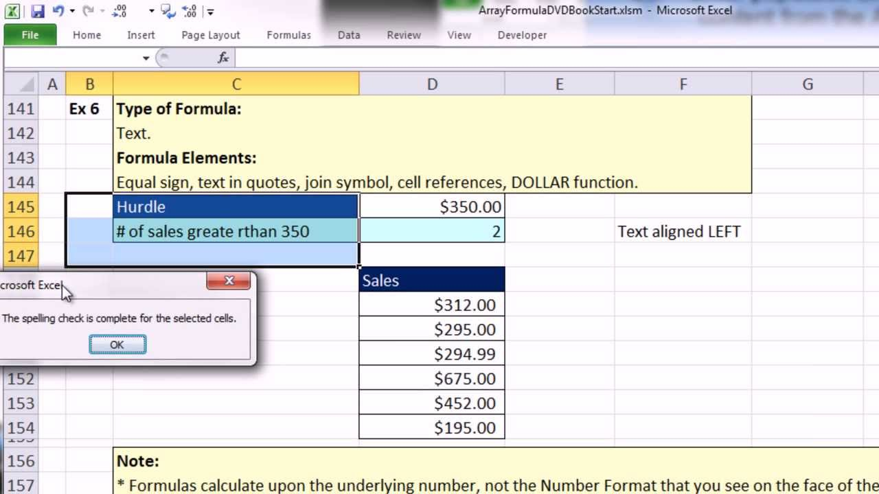 Ctrl   Shift   Enter  Excel Array Formulas  01  Review