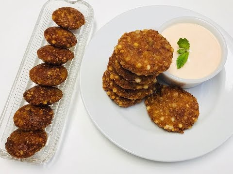 Sabudana Vada | Crispy sago patties | Upwas snack | Farali recipe