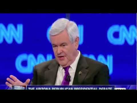 Newt Gingrich Republican Debate Highlights Feb. 22, 2012