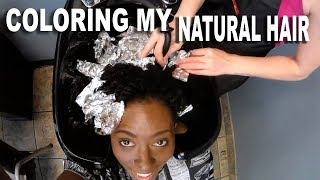 FINALLY COLORING MY NATURAL HAIR| BEAUTYCUTRIGHT