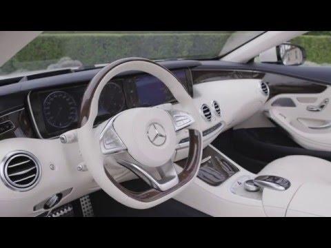 Mercedes-AMG S 63 4MATIC Cabriolet - Interior Design in Cashmere White Magno Trailer   AutoMotoTV