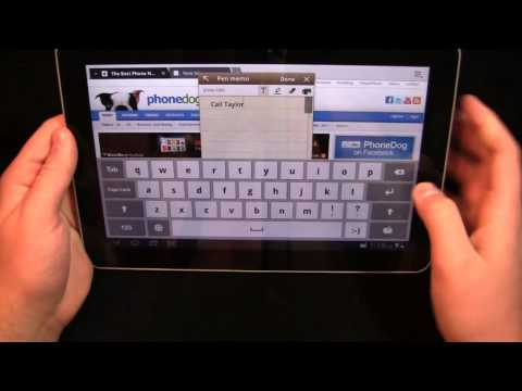 Samsung Galaxy Tab 10.1 TouchWiz UX Hands-On