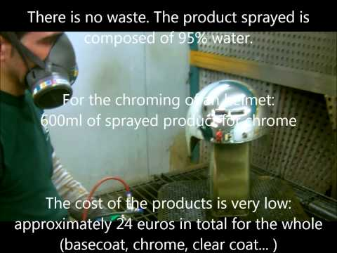 chrome spray paint machine