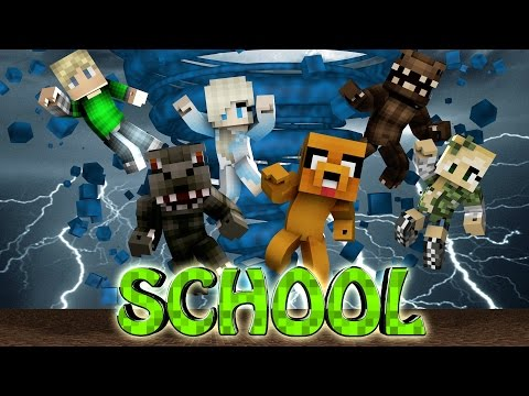 Minecraft School | Military School of Mods - Tornado Destroys School! (Tornado Mod, Weather, School)