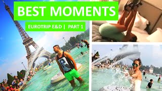 BEST MOMENTS | EuroTrip Erik & Domisha | PART 1