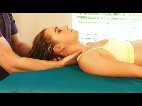 HD Neck Massage Tutorial: How to Head Massage, Relaxing Music & Spa Techniques, 60 fps