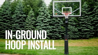 In-Ground Basketball Hoop Installation & Hoop Light!