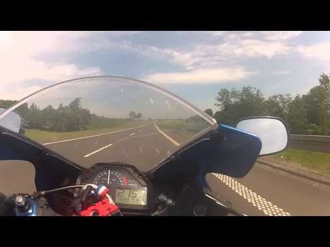 Honda Cbr 600 rr max speed attempt