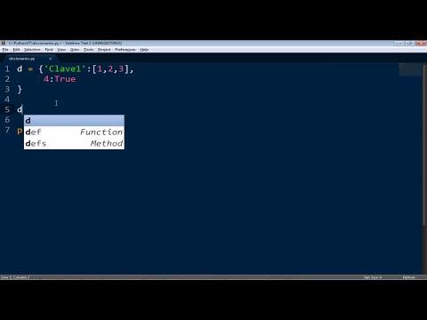 Tutorial Python 8: Diccionarios