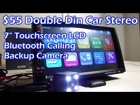 """$55 Double Din 7"""" LCD Touchscreen Bluetooth Car Stereo"""