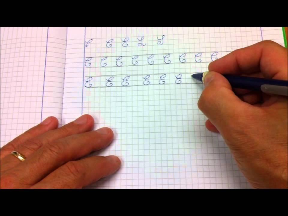 Lettere C E L S - Come scrivere in corsivo maiuscolo rispettando vista e visione - YouTube