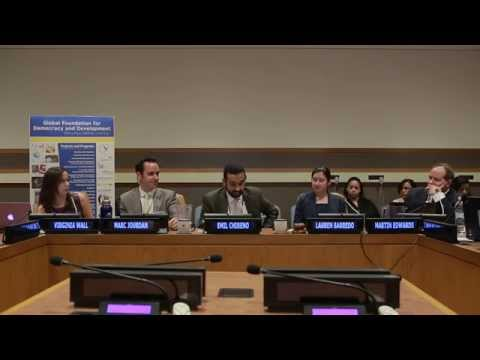 UN Panel - The role of civil society in socializing and implementing the Post 2015 Agenda