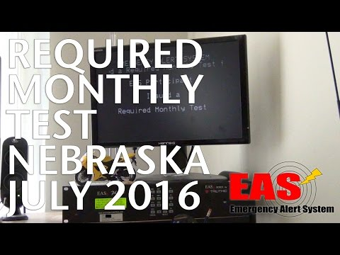 Emergency Alert System (EAS) - Required Monthly Test (RMT - Nebraska) . 7.2016