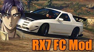 GTA 5 PC | MODS | Mazda RX7 FC | Do You Even Initial D Bro!?