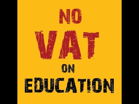 Private university students protest against 7 5% VAT on education in Bangladesh..