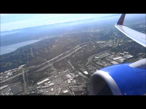 Morning Takeoff from Seattle-Tacoma (SEA) Southwest Airlines B737-800