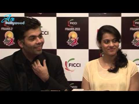 Kajol wering Beautiful Dress at FICCI Frames