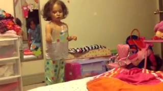 Two little monkeys jumping on the bed!!!!!