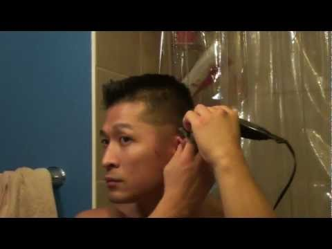 Tutorial: How to Fade Your Own Hair with Hair Clippers Haircut for Men