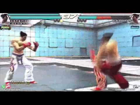 Tekken Tag2 Knee(?) Kazuya/Deviljin Cross Counter by Kitoyamo