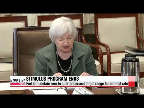 U.S. Federal Reserve ends bond-buying program   연준, 양적완화 이달 말 완전 종료