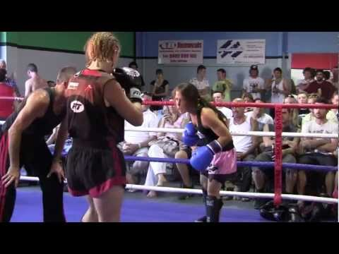 Women's Kickboxing Sparring ( 20 KG's Advantage ) Round #1 Image 1