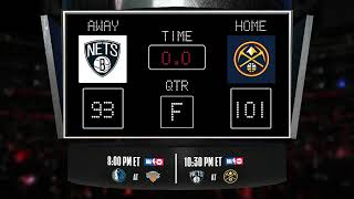 Nets @ Nuggets LIVE Scoreboard - Join the conversation and catch all the action on #NBAonTNT!