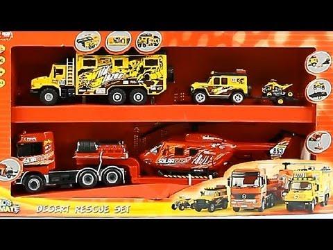 Construction Set / Zestaw Pojazdow Ratunkowych Desert - Kids Mate - Dickie - Simba