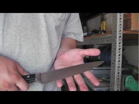 Fastest Way To Sharpen Knives RAZOR SHARP!