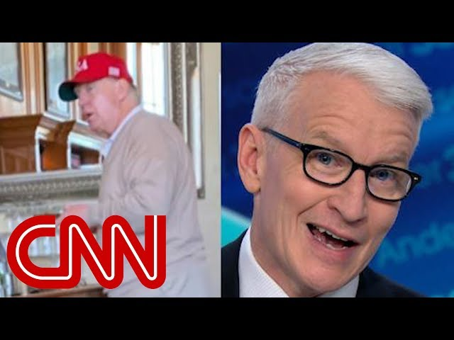 Anderson Cooper reacts to Trumps golf trip after declaring emergency