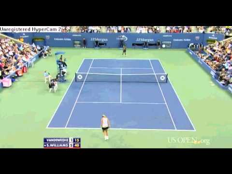 Serena Williams vs Coco Vandeweghe Highlights US OPEN 2012