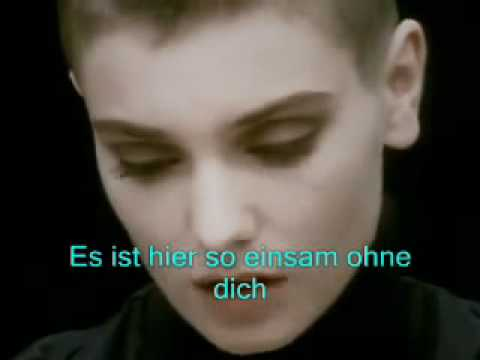 Sinead'O'Connor Nothing Compares to you Deutsch übersetzt