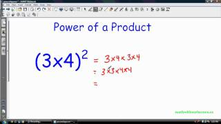 Math 9 - Exponent Laws II: Power of a Power and more