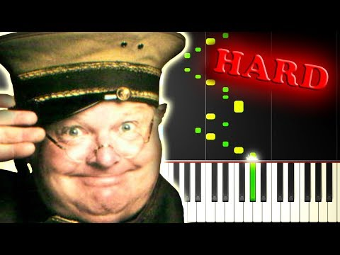 BENNY HILL - YAKETY SAX - Piano Tutorial
