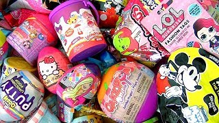 Shopkins Smooshy Mushy Surprise egg Barbie Lalaloopsy Paint Cans