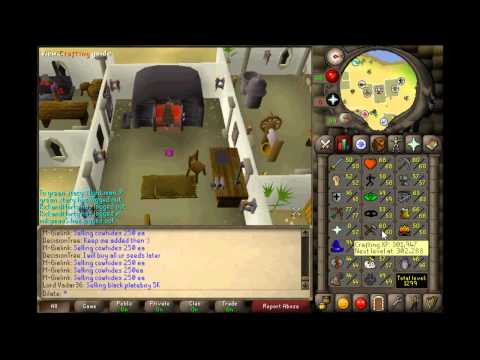 Runescape 2007 MONEY MAKING GUIDE! 375k cash/hour with 38k crafting and 25k magic xp