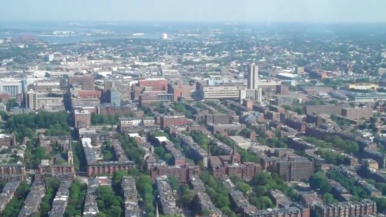 Boston View From Observation Deck Atop The Prudential