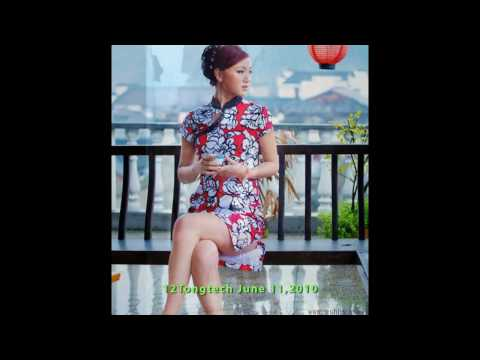 Chinese Qipao 8 with12 Girls Band music Spell of Love Video