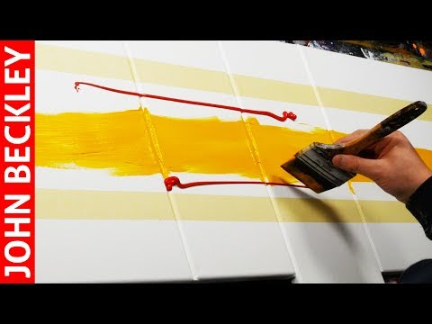 Abstract Painting EASY With Masking Tape   Groovin