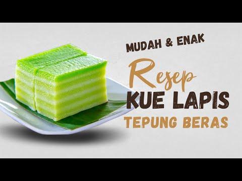 RESEP KUE LAPIS TEPUNG BERAS - Cakes #26