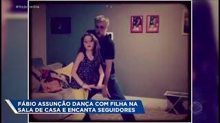 Fábio Assunção dança com a filha e anima seguidores