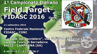 Presentazione Campionato Italiano Field Target 2016