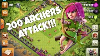 200 Archer ATTACK | Clash Of Clans