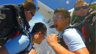 1 MILLION SUBSCRIBER SKYDIVE! - Highest SkyDive In The World & $1000 GIVEAWAY!
